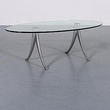 Amazonde Rolf Benz Designer Glas Couchtisch Metall Oval 6107