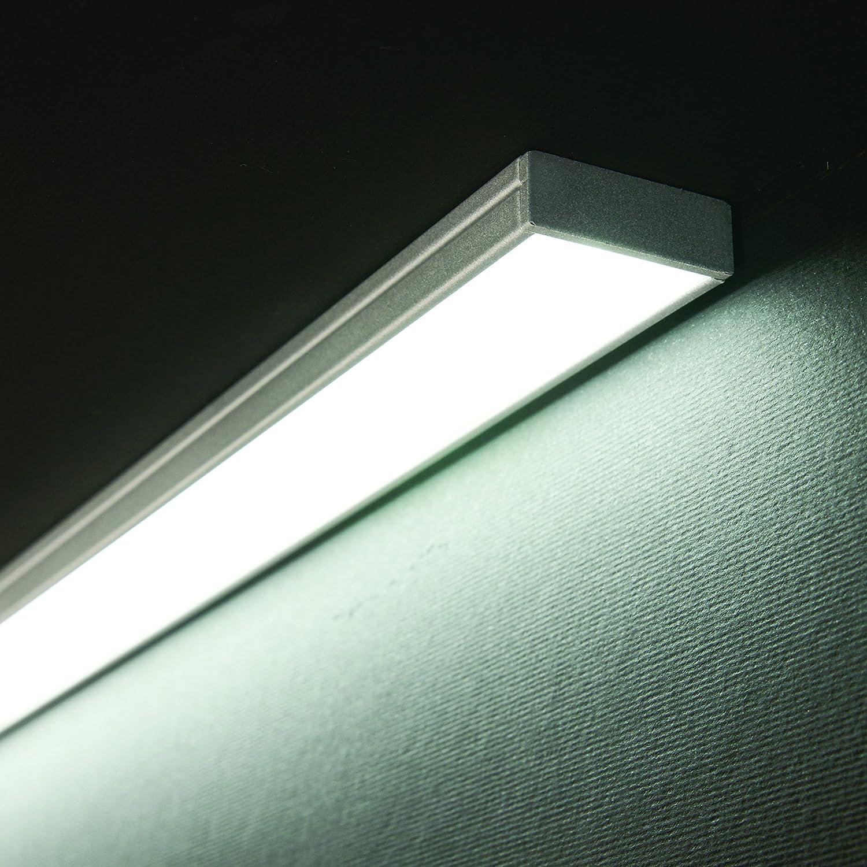 LED-AluminiumprofilSover transparente Abdeckung schwarz eloxiert LED Alu Profil, Alu LED Profil, LED Profil