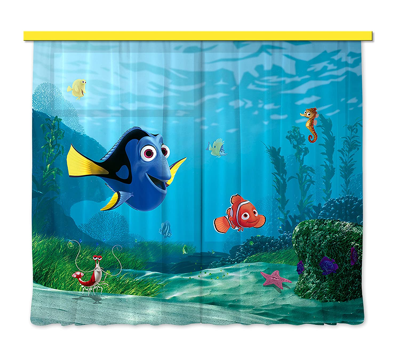 Amazon.de: Gardine/Vorhang FCS xl 4320 Kinderzimmer Disney Nemo