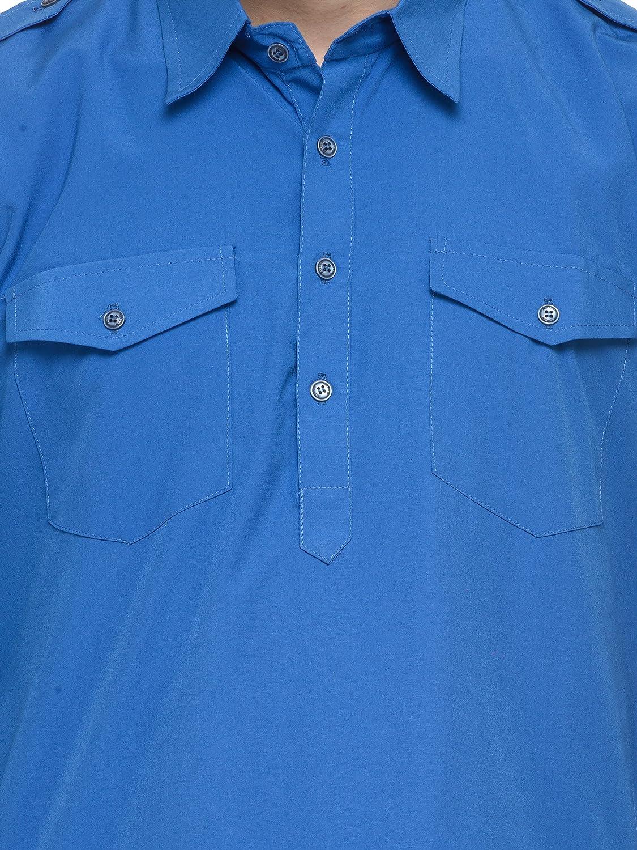 81abaa31f0 RG Designers Dark Blue pathani kurta Salwar Set: Amazon.in: Clothing &  Accessories