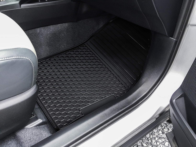 All Seasons Odorless Black E-cowlboy Floor Mat Liner for Toyota RAV4 2014~2018 Heavy Duty Rubber Front /& Rear Car Carpet Custom Fit