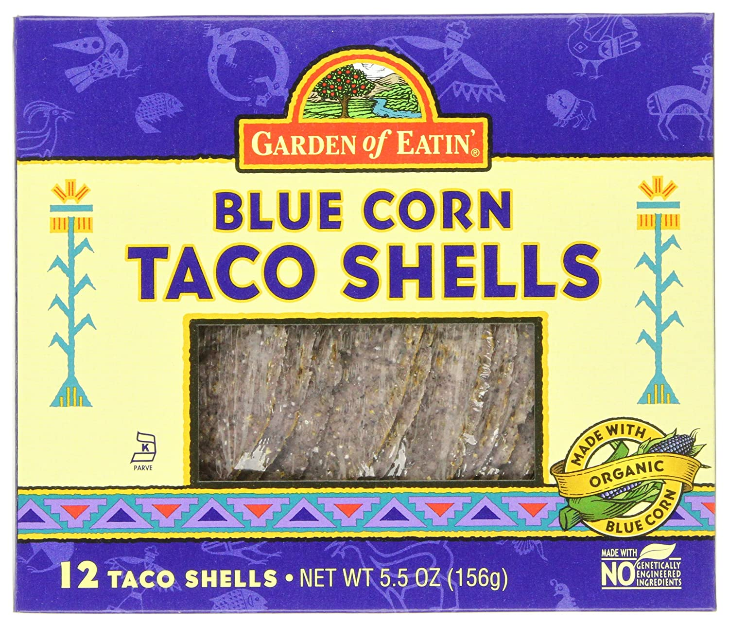 Garden of Eatin'0174; Taco Shells Blue, 5.5 Ounce Boxes (Pack of 12)