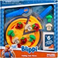 """Blippi Funny Fun Pizza, Learning Colors - 6"""" Pizza Crust, Pizza Cutter, Spatula, Pizza Plate, 9 Ingredients (Peppers, Broccoli, Mushrooms), Plus 6 Surprise Ingredients - Amazon Exclusive"""