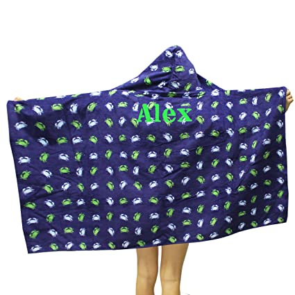 amazon com personalized hooded beach towels for kids monogrammed