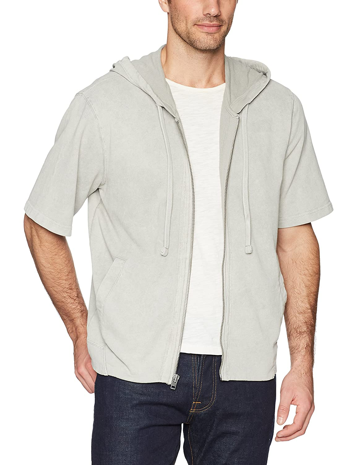 William Rast Mens Rowan Short Sleeve Zip Hoodie