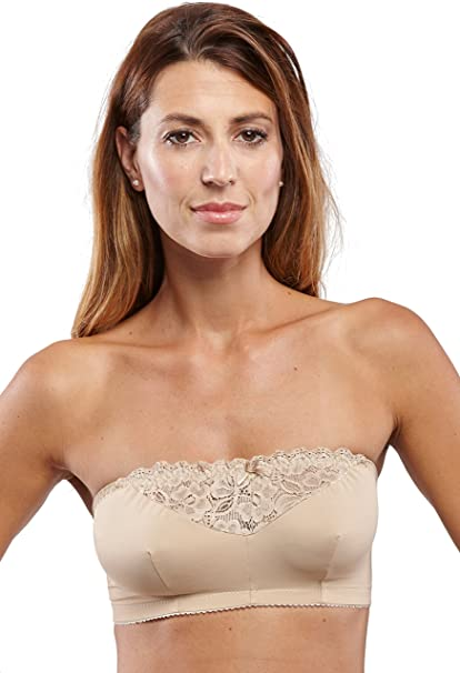 dc6fde53c1bc4 Carole Martin Strapless Comfort Wireless Bra at Amazon Women s Clothing  store