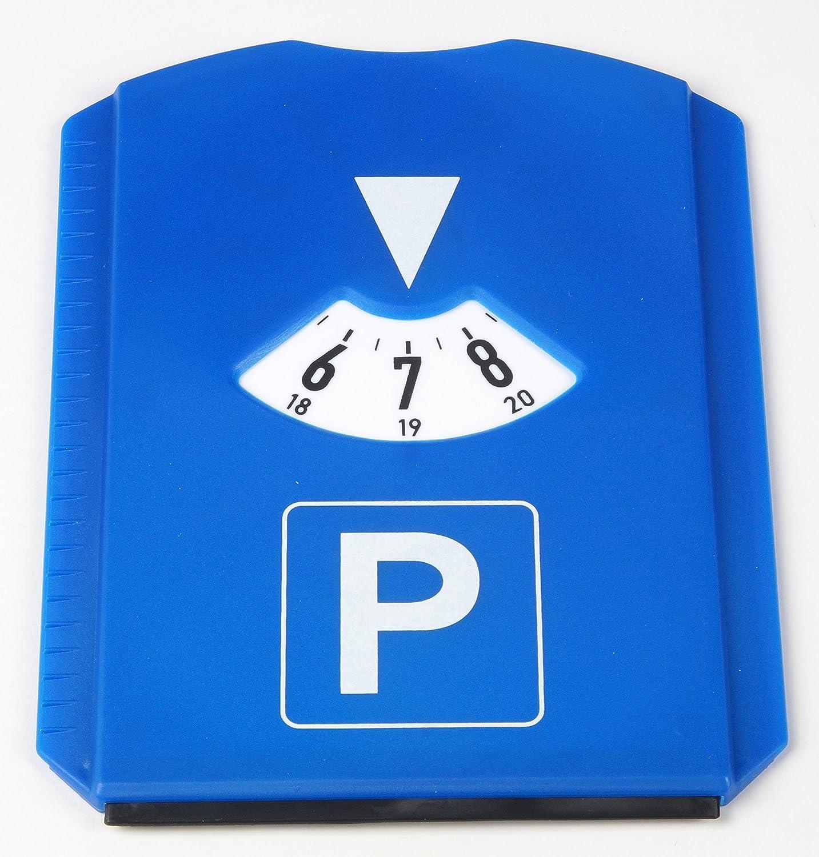 11,8x15,5 cm Blau aus Kunststoff AM//63 1 x Parkscheibe mit Eiskratzer