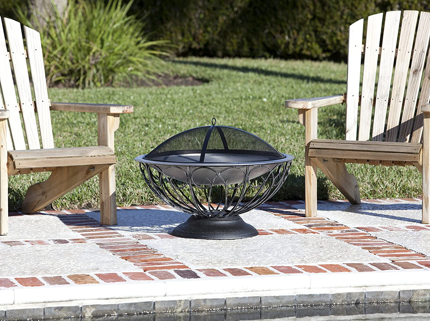 Amazon.com : Fire Sense Stainless Steel Urn Fire Pit : Outdoor ...