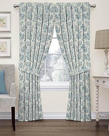 Amazon.com: Waverly 15402052063CRF Floral Window Curtain, 52