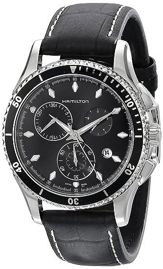 Hamilton Reloj Cronógrafo para Hombre de Cuarzo con Correa en Cuero H37512731: Amazon.es: Relojes
