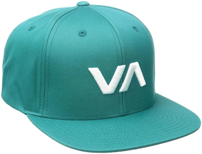 RVCA Mens VA Snapback II Hat Black  Black One Size RVCA Young Men ... bb79b7aece21