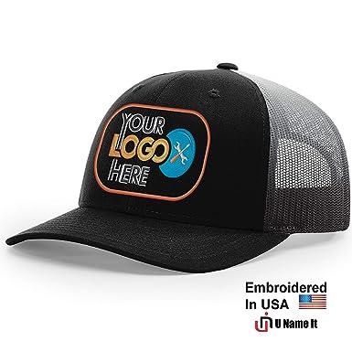 Custom Richardson 112 Hat with Your Logo Embroidered Trucker Mesh Snapback  Cap (Adjustable Snapback 112PM 52b1ac33f24