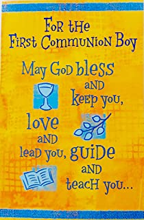 for the first communion boy may god bless and keep you love and