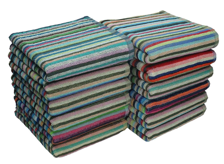 50 x 90 cm 100/% Baumwolle Betz 12er Pack Handt/ücher Grubentuch Arbeitshandtuch K/üchentuch Gr/ö/ße bunt gestreift
