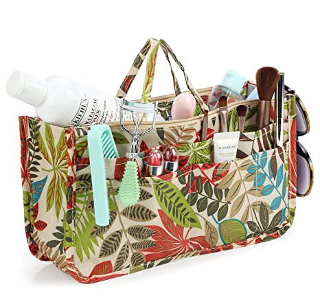 5ed8edc964db Buy Leaf : Micom Cute Printing Expandable 13 Pocket Handbag Insert ...