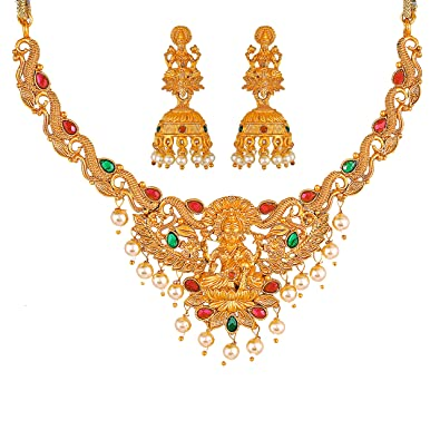 Buy MEENAZ South Indian Temple Jewellery Gold Kundans
