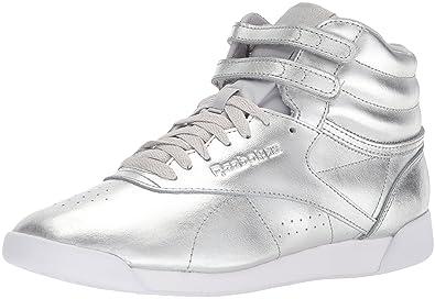 77a9cbe3c24 Reebok Women s F S HI Metallic Sneaker Silver met Steel White 7 M