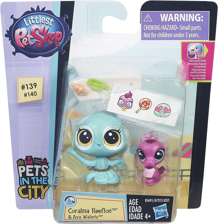 Littlest Pet Shop Coralina Reefton /& Aya Waterly Hasbro B5691AS0
