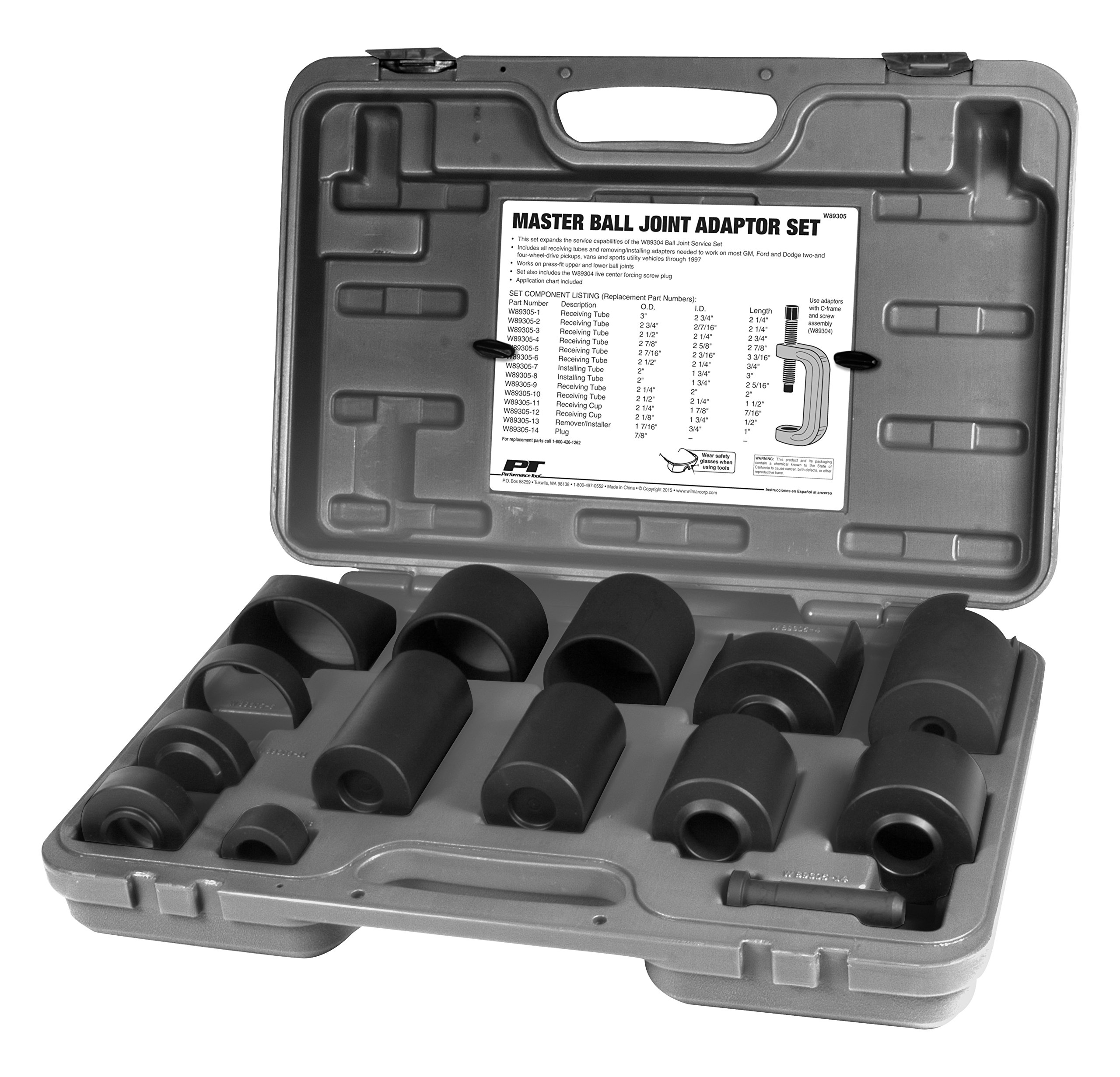 Performance Tool W89305 Master Ball Joint Adapter Set by Performance Tool (Image #1)