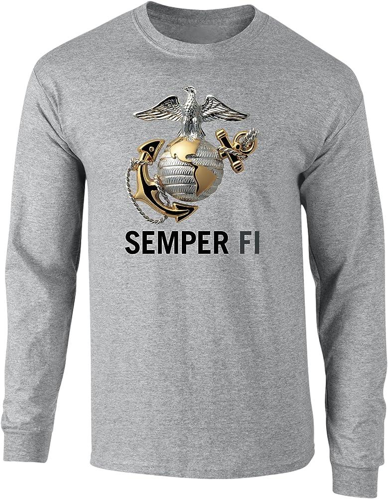 New MARINES USMC EAGLE  RED  LICENSED LONG SLEEVE T Shirt PATRIOTIC USA