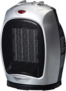 Beau AmazonBasics 1500 Watt Oscillating Ceramic Space Heater With Adjustable  Thermostat   Silver