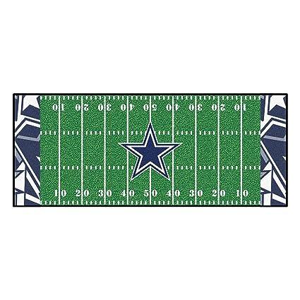 f02f08bf08d19e Amazon.com: NFL Dallas Cowboys Football Field Runner Mat Area Rug ...