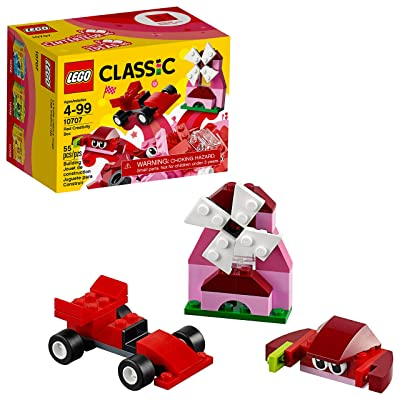 LEGO Classic Red Creativity Box 10707 Building Kit: Toys & Games