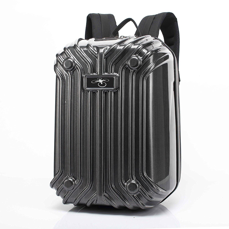 ZEEY DJI Phantom 3 / Phantom 4のための炭素繊維ストライプハードシェル旅行保護バックパック B0748BNT2N