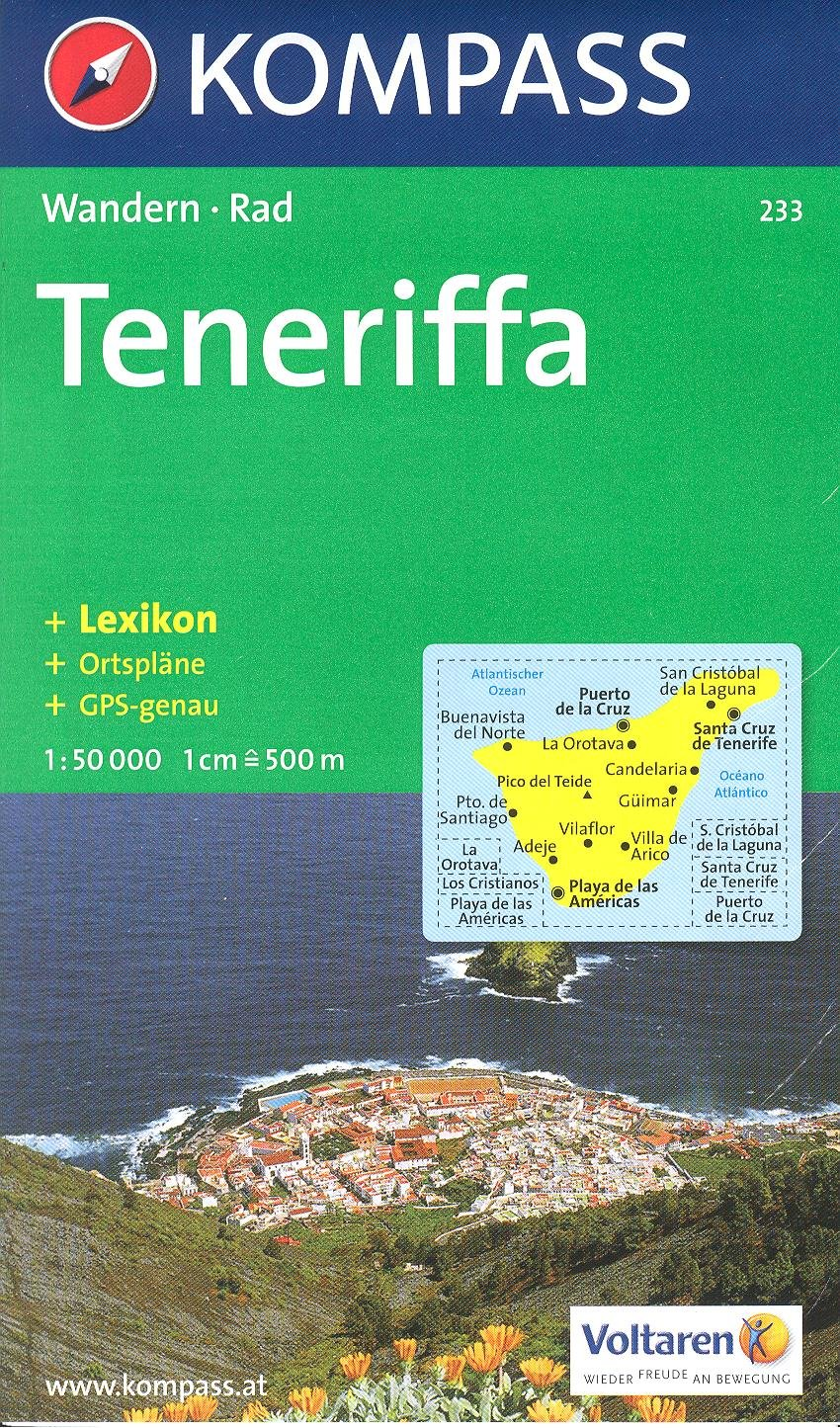 Tenerife 1:50.000 mapa senderismo KOMPASS # 233: Amazon.es: KompassMaps: Libros