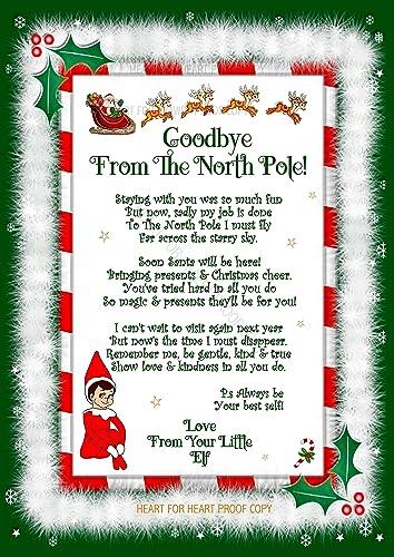 Accessory For Elf On The Shelf Goodbye Letter Christmas Gift