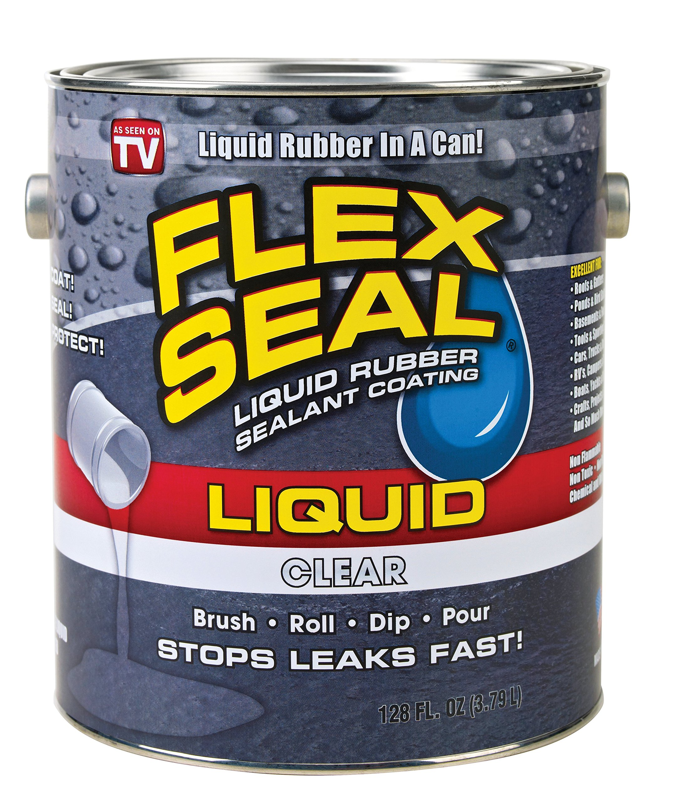 Flex Seal Liquid Rubber in a Can, 1-gal, Clear product image