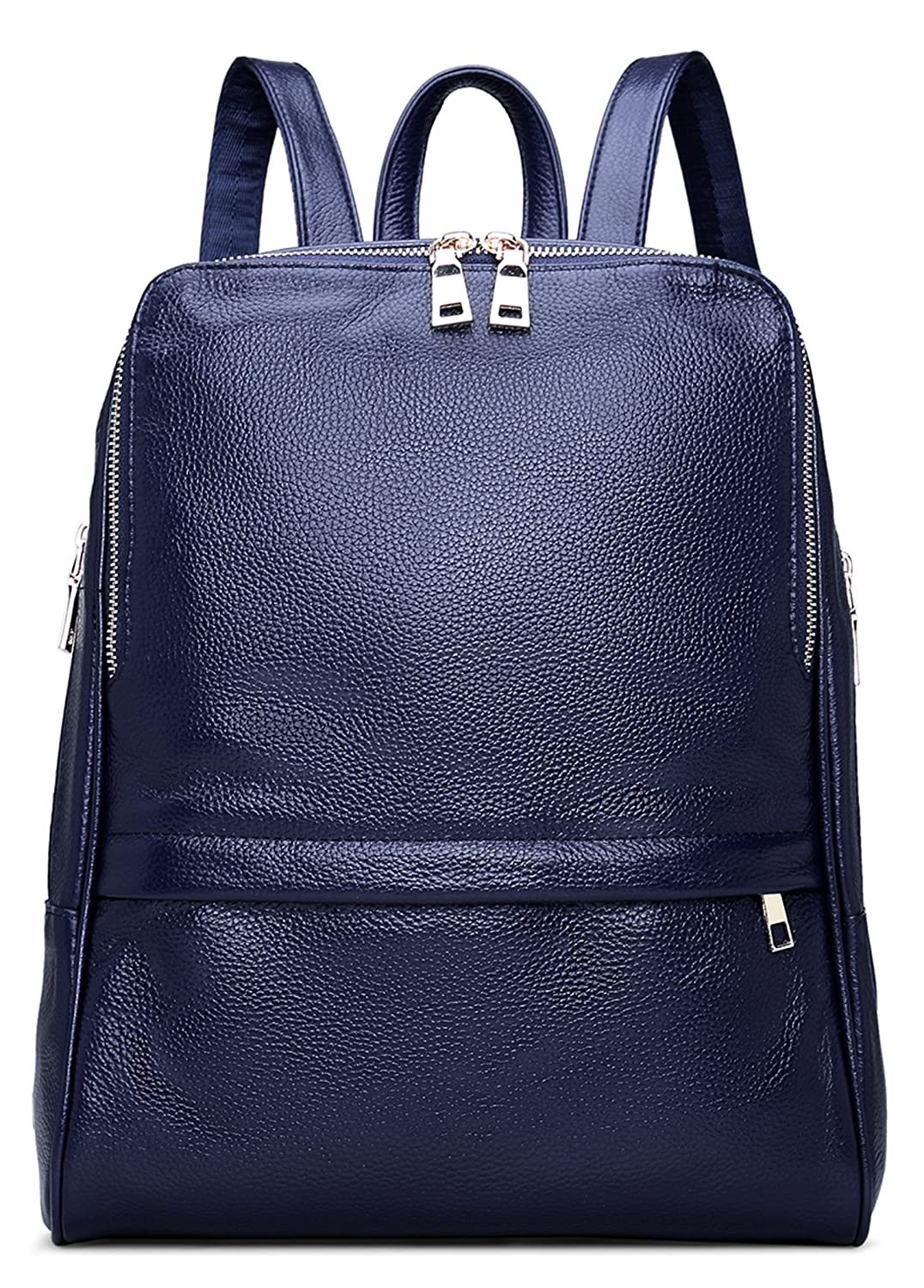 fa44f019045 Amazon.com   Coolcy Hot Style Women Real Genuine Leather Backpack Fashion  Bag (Royal Blue)   Casual Daypacks