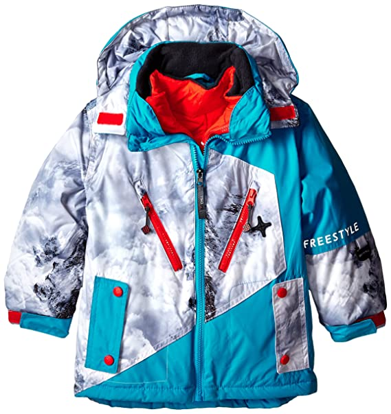 d359baa0b379 Amazon.com  Big Chill Little Boys  Systems Coat with Puffer Jacket ...