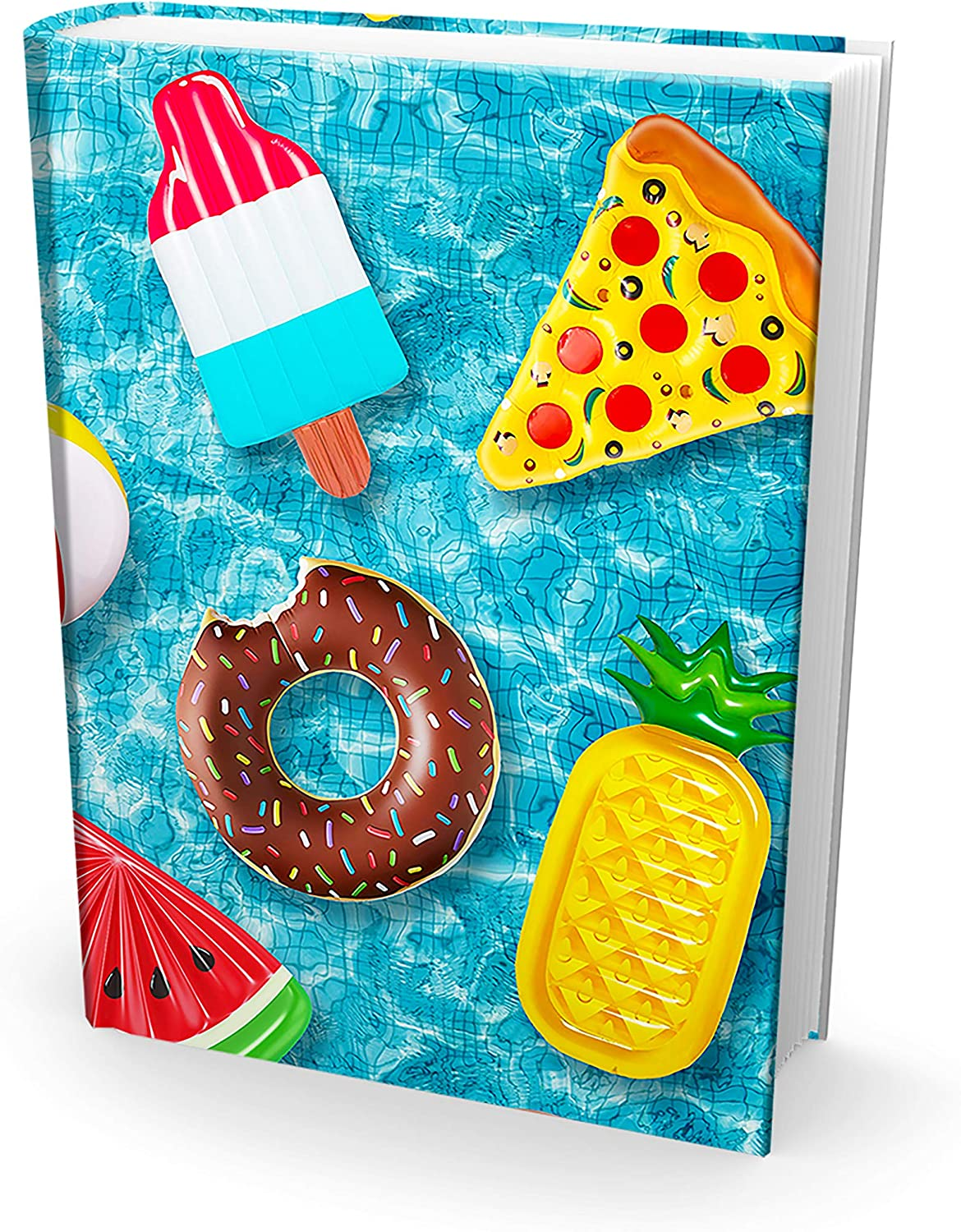 Easy Apply, Reusable Book Covers 1 Pk. Best Jumbo 9x11 Textbook Jackets for Back to School. Stretchable to Fit Most Large Hardcover Books. Perfect Fun, Washable Designs for Girls, Boys, Kids and Teens