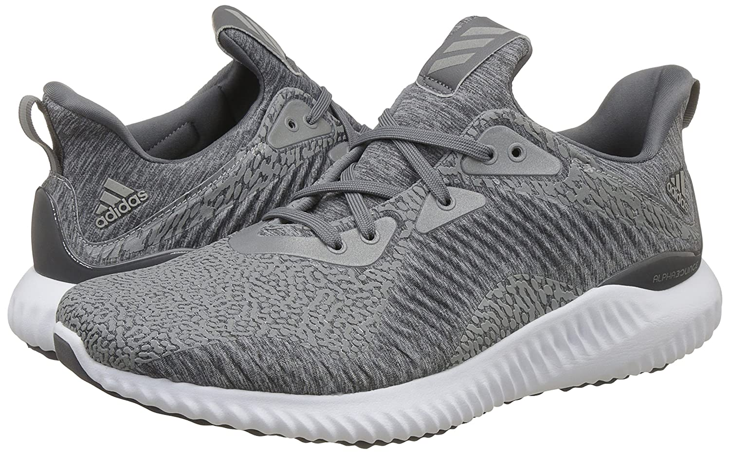0fc9ef03e383 Adidas Men s Alphabounce HPC AMS M Mgreyh Grefou Ftwwht Running Shoes - 10  UK India (44 1 2 EU)  Buy Online at Low Prices in India - Amazon.in
