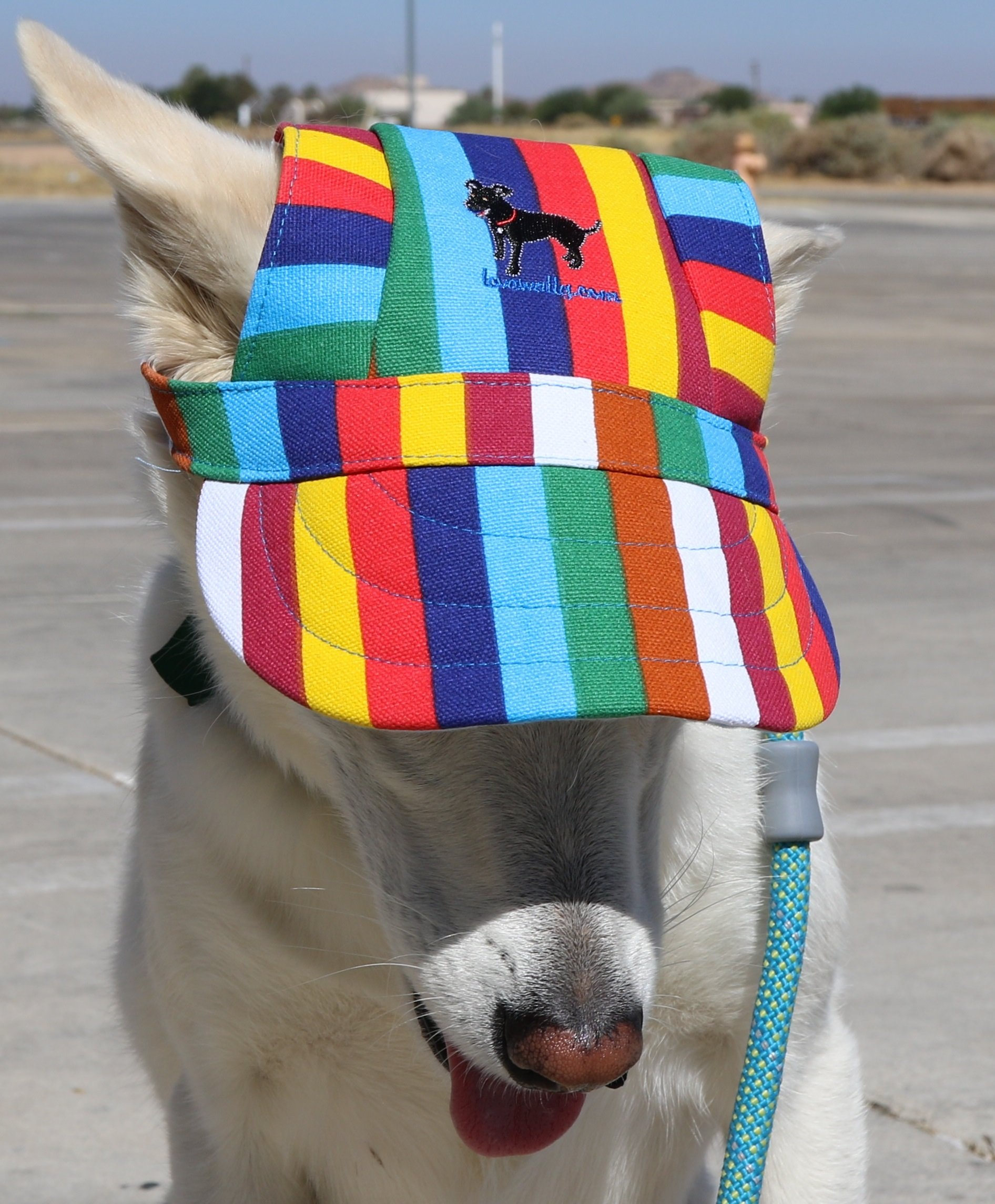 LoveWally Dog Outdoor PET Hat Rainbow ♦ Adjustable Authentic (Large) by LoveWally (Image #2)