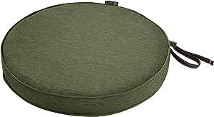 "Classic Accessories Montlake Round Cushion Foam & Slip Cover, Heather Fern, 15"" Dia x 2"" Thick"