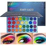 Beauty Glazed Rainbow Colors Fusion Eyeshadow Palette 39 Shades Metallic Shimmer Palette Long Lasting Eye Shadow Pallet…