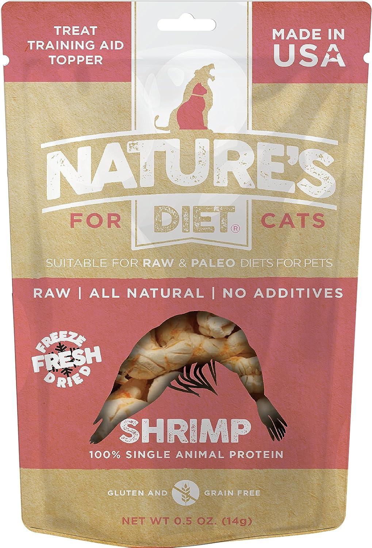 Nature's Diet Pet Raw All Meat Freeze Dried Grain Free Cat Treats (Shrimp)