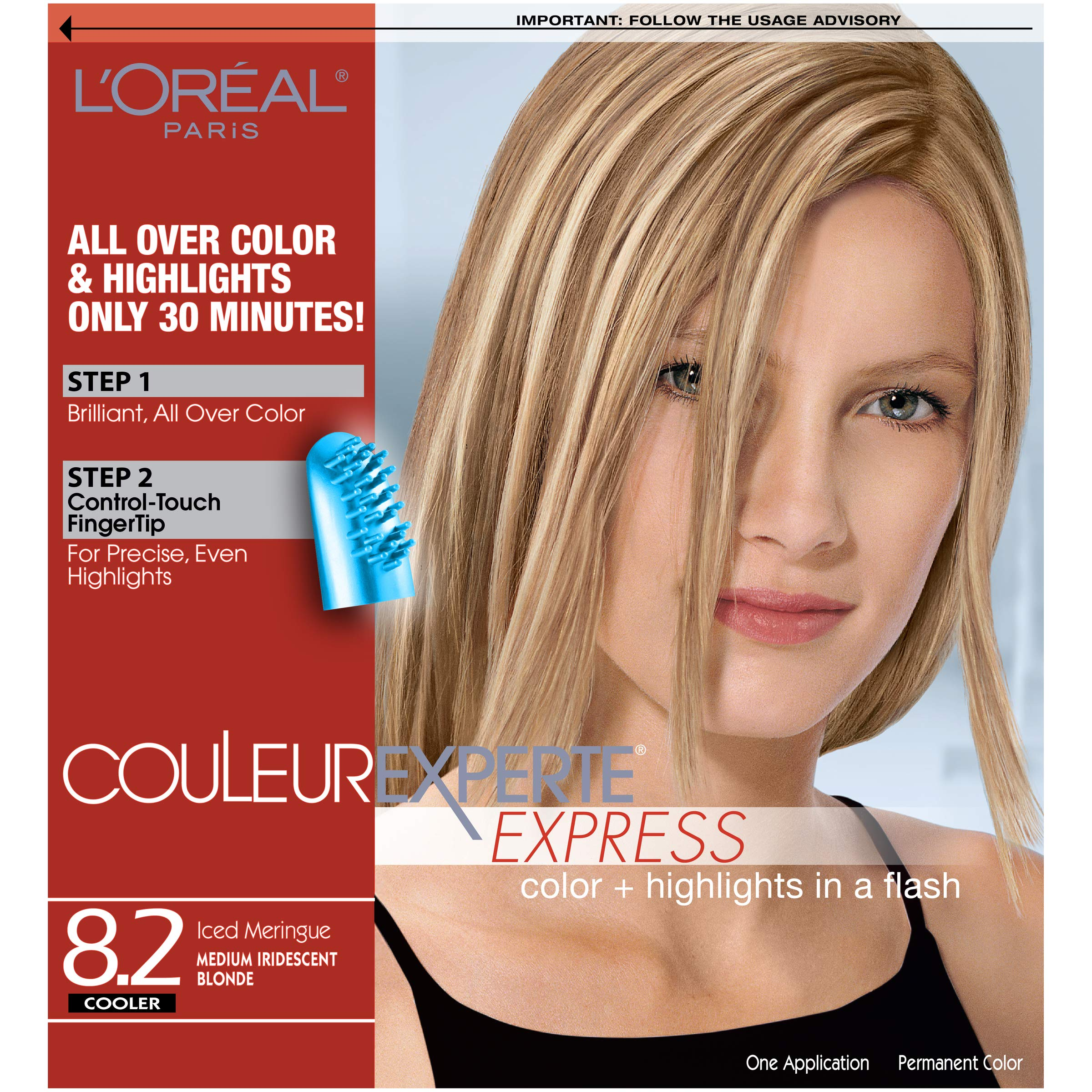 L'Oreal Paris Couleur Experte Color + Highlights in a Flash, Medium Iridescent Blonde - Ice by L'Oreal Paris
