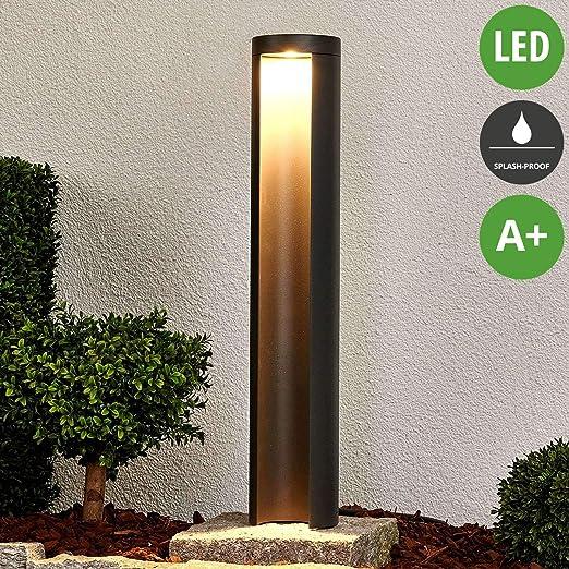 LED Lámpara para exterior Jaron (Moderno) en Gris hecho de Aluminio (1 llama, A+) de Lucande | iluminación de senderos, baliza, iluminación de senderos, farola: Amazon.es: Iluminación