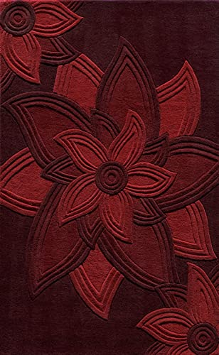 Momeni Rugs Delhi Collection Area Rug, 5 x 8 , Red