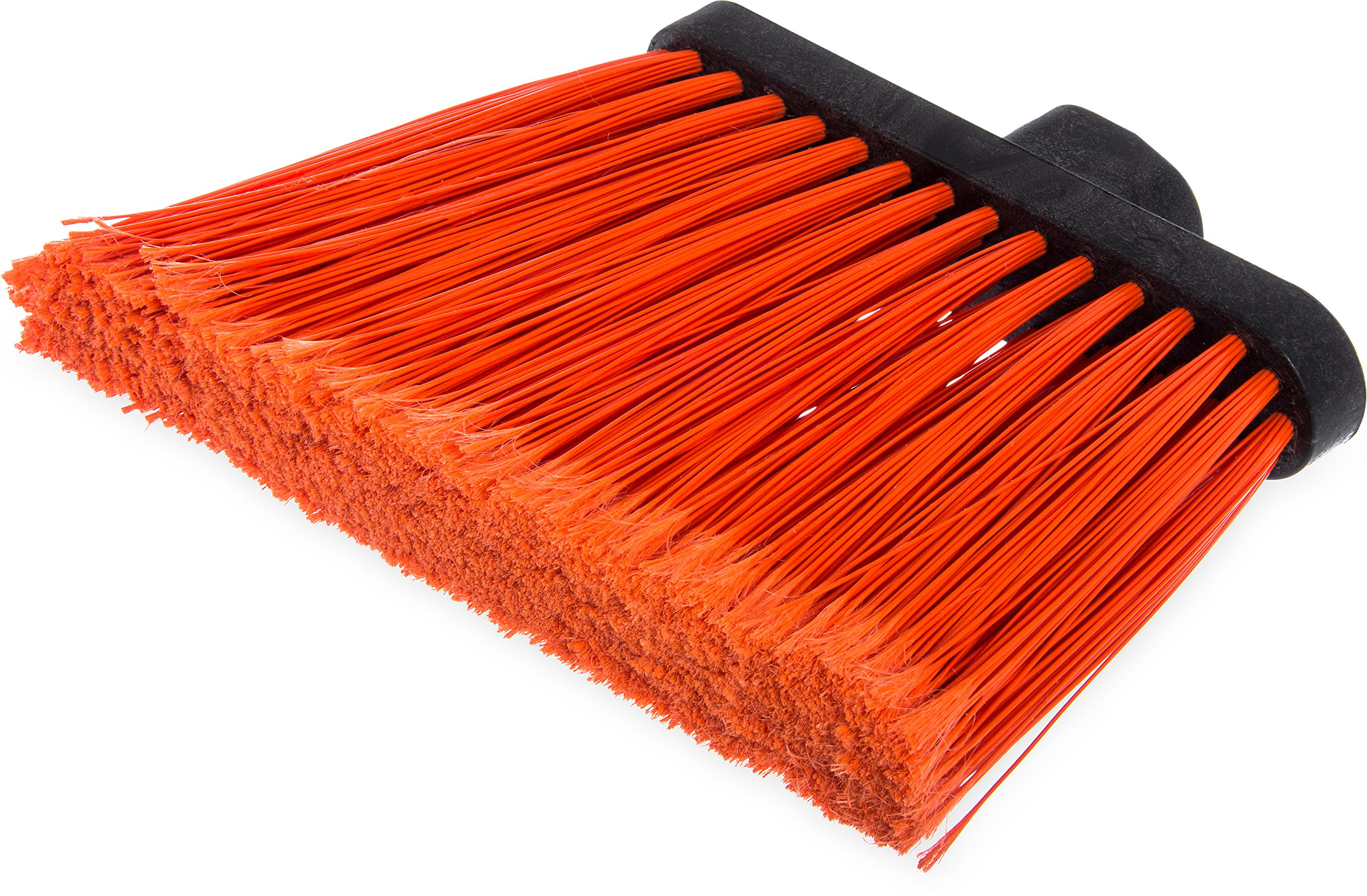 Carlisle 3686724 Duo-Sweep Duo-Sweep Flagged Angle Broom Head Only, 12'', Orange