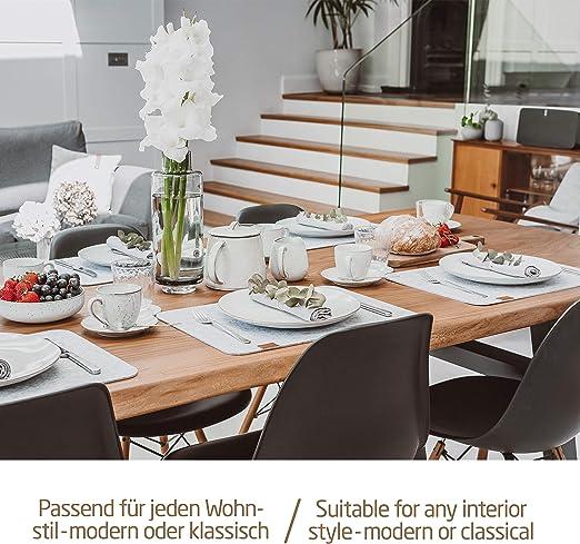 CaTaKu Serviette de table en tr/èfle lavable r/éutilisable pour f/ête d/écoration maison cuisine 50,8 x 50,8 cm D/écontract/é 20 x 20 multicolore