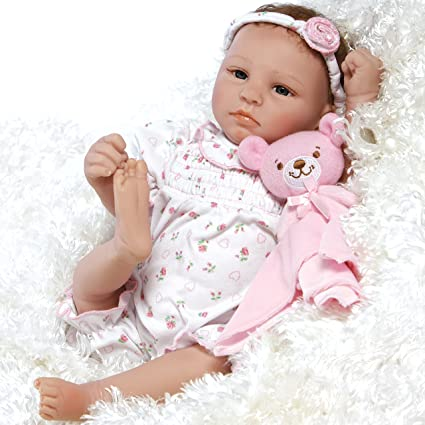 fcfca29cb44f Amazon.com: Paradise Galleries Lifelike & Realistic Newborn Reborn Baby  Doll, Bundle of Joy, 18-inch Weighted Baby in GentleTouch Vinyl, 5-Piece  Set: Toys & ...