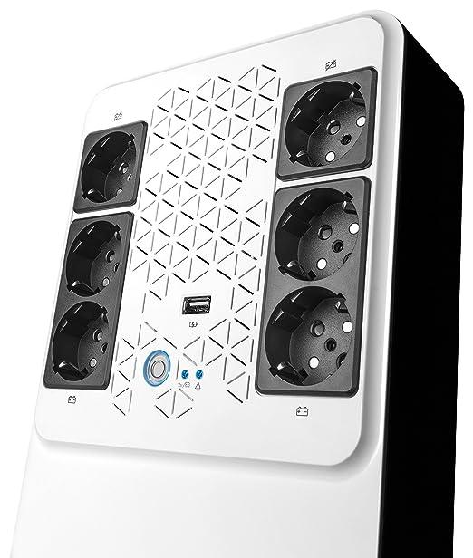 Legrand, SAI, Sistema de alimentación ininterrumpida, 6 enchufes 1 USB, VI 600 VA: Amazon.es: Industria, empresas y ciencia