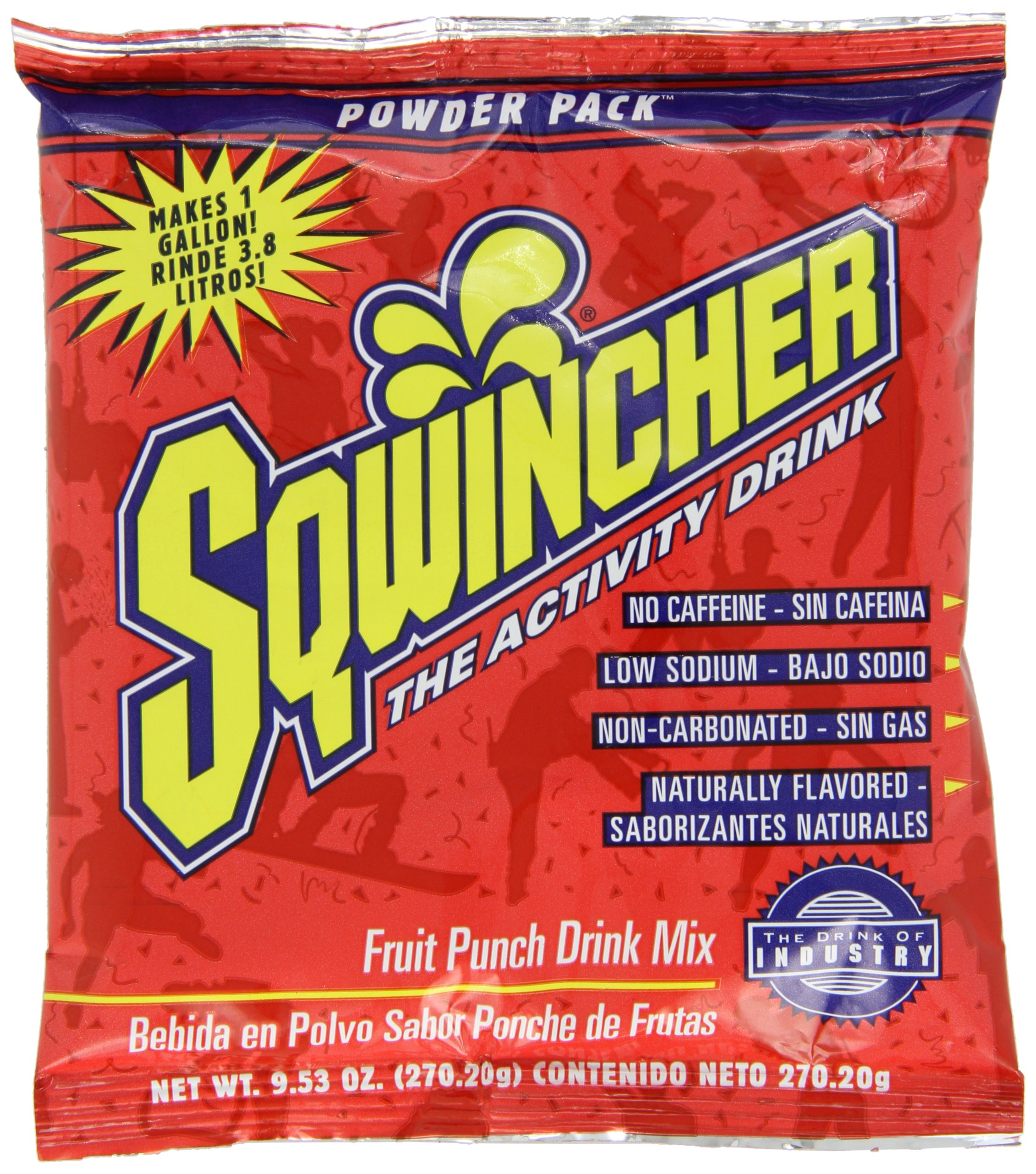Sqwincher Powder Concentrate Electrolyte Replacement Beverage Mix, 1 gal, Fruit Punch 016005-FP (Case of 80) by Sqwincher (Image #2)