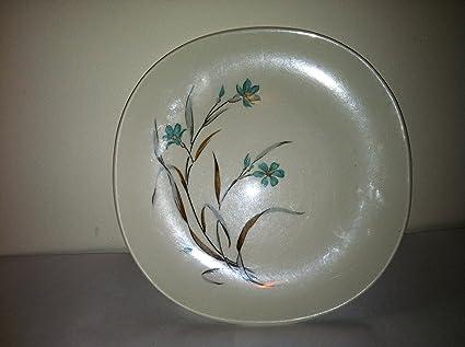 Kokura Ware Bonair Turquoise Flower Desert Plate 1015 Vintage 1950s & Amazon.com | Kokura Ware Bonair Turquoise Flower Desert Plate 1015 ...