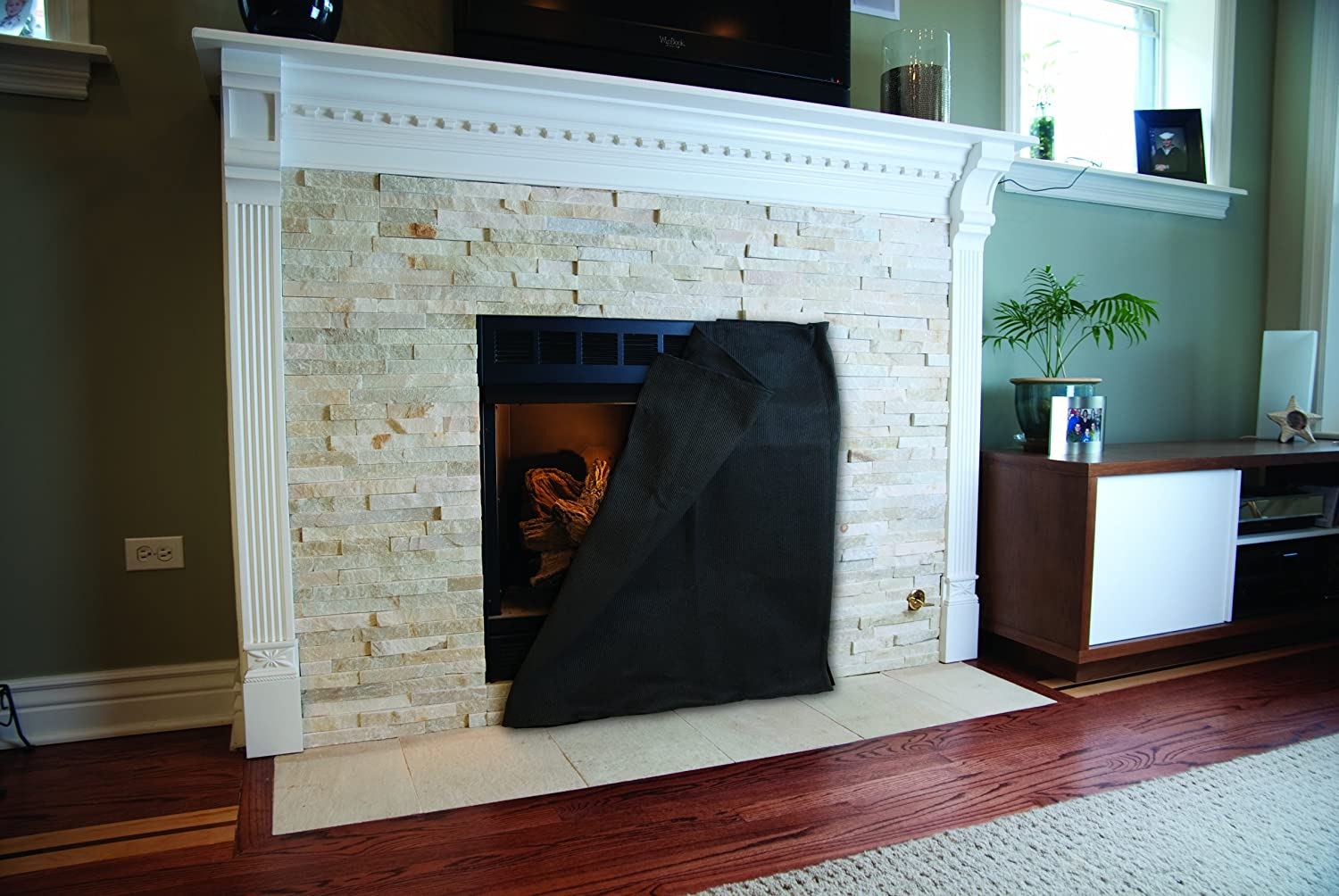 fireplace blocker 30 inch h x 36 inch w blanket small amazon com