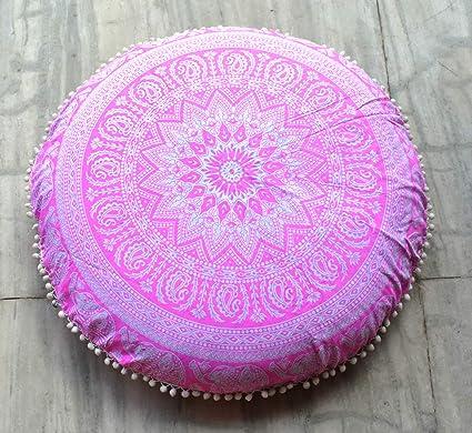 Traditional Jaipur Floral Mandala - Cojín de Suelo ...